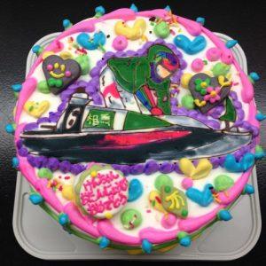 競艇のキャラクターケーキ