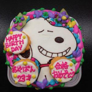 スヌーピーのキャラクターケーキは豊橋のブランティーグル