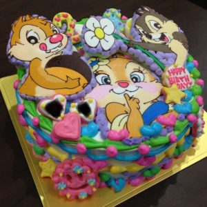 チップとデールのキャラクターケーキ 立体ケーキ