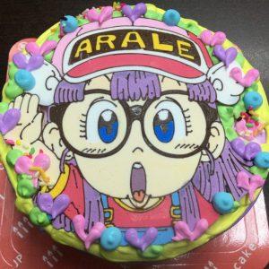 ドクタースランプアラレちゃんのキャラクターケーキ
