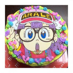 ドクタースランプアラレちゃんのキャラクターケーキを頼むなら豊橋市のブランティーグル