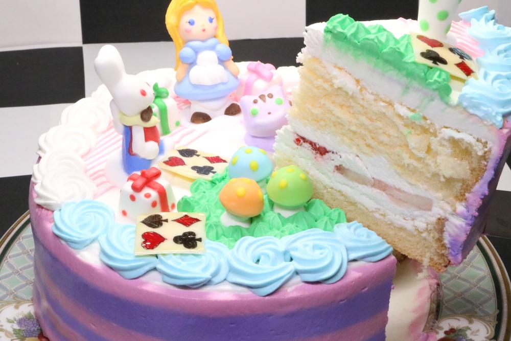 アリスのギフトケーキカット面