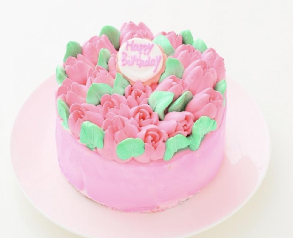 お花畑ケーキ