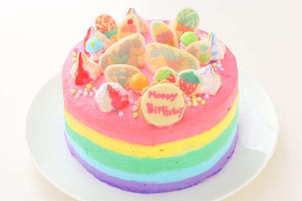 夢のカラフルケーキ