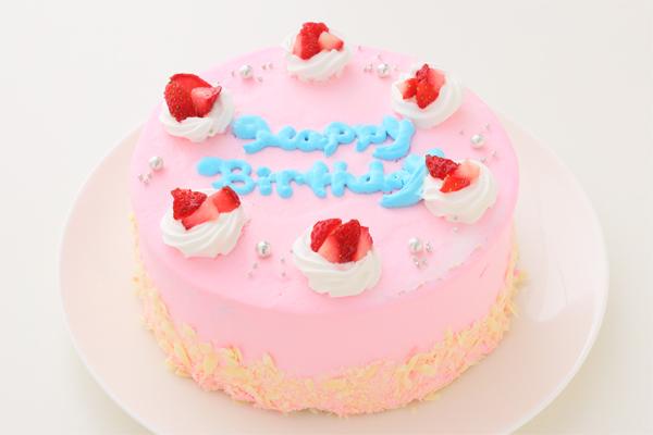可愛いピンクのショートケーキ