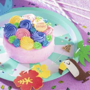 薔薇のカラフルケーキ